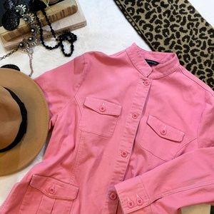 Lands End Pink Jean Jacket